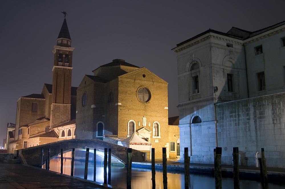 Chioggia di notte presentata dall'hotel belvedere di sottomarina